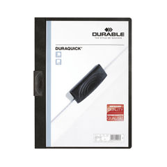 View more details about Durable Duraquick A4 Black Clip Folder (Pack of 20) 2270/01