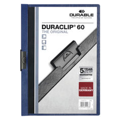 View more details about Durable 6mm Duraclip File A4 Dark Blue (Pack of 25) 2209/07