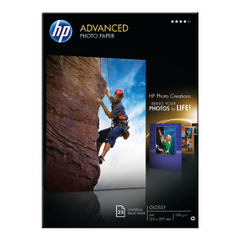 View more details about HP Advanced A4 Glossy Photo Paper, 250gsm, Pack of 25 - Q5454A