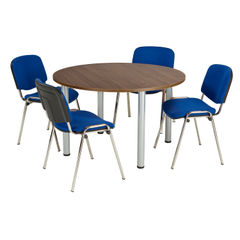 View more details about Jemini 1200mm Walnut Circular Meeting Table