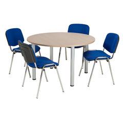 View more details about Jemini 1200mm Grey Oak Circular Meeting Table