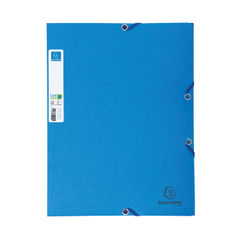 View more details about Exacompta A4 Blue Clean Safe Elasticated Folders (Pack of 5) – 56122E