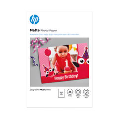 View more details about HP Matte FSC Photo Paper, Pack of 25 - 7HF70A