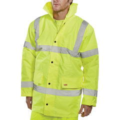 View more details about Constructor Saturn Large Yellow High Vis Jacket - CTJENGSYL