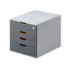 View more details about Durable Varicolor Safe 4 Drawer Box 760627