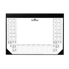 View more details about Durable Black Calendar Pad Desk Mat - 7291/01
