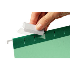 View more details about Rexel 50mm Suspension File Tabs with Labels Clear (Pack of 25) 2115596