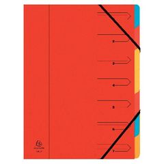 View more details about Exacompta Europa A4 Red 7-Part Organiser - 5221Z