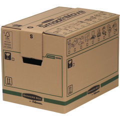 View more details about Bankers Box SmoothMove Small Brown/Green Moving Boxes, Pack of 5 - 6205201