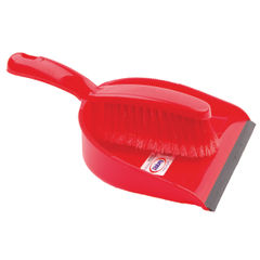 View more details about Red Dustpan and Brush Set - 102940RD