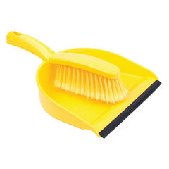 View more details about Yellow Dustpan and Brush Set - 102940YL