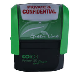 View more details about COLOP Green Line Word Stamp PRIVATE & CONFIDENTIAL Red P20GLPRI