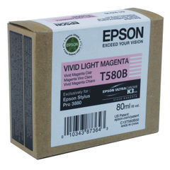 View more details about Epson T580B00 Light Magenta Inkjet Cartridge C13T580B00 / T580B00
