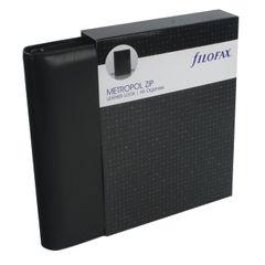 View more details about Filofax Black Metropol A5 Zip Personal Organiser - 026979