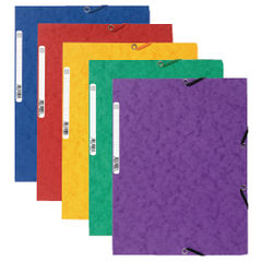 View more details about Exacompta Europa Portfolio File A4 Assorted (Pack of 10) 55515E