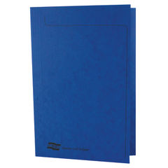 View more details about Europa Square Cut Folder 300 micron Foolscap Blue (Pack of 50) 4825