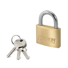 View more details about Master Lock Magnum 50mm Brass Padlock - 40044