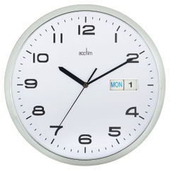 View more details about Acctim Supervisor Chrome/White 320mm Wall Clock - 21027