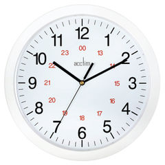 View more details about Acctim Metro 24 Hour Plastic Wall Clock 300mm White 21162