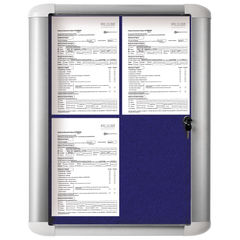 View more details about Bi-Office External Display Case 450x614mm Blue VT610107760