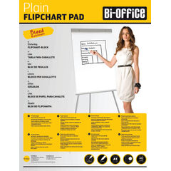 View more details about Bi-Office Plain Flipchart Pad A1 40 Sheet (Pack of 5) FL010101