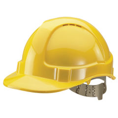 View more details about Yellow Comfort Vented Helmet - BBVSHY