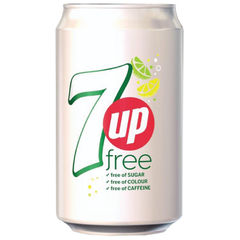 View more details about 7-Up Free Lemon and Lime 330ml Cans, Pack of 24 - 402049