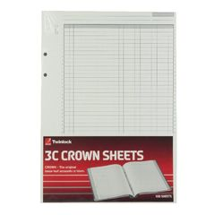 View more details about Rexel Crown 3C F9 Treble Cash Refill Sheets (Pack of 100) 75849