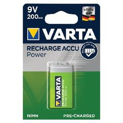 View more details about Varta 9V Rechargeable Accu Battery NiMH 200 Mah 56722101401