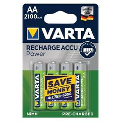 View more details about Varta AA Rechargeable Accu Battery NiMH 2100 Mah (Pack of 4) 56706101404