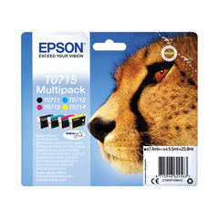 View more details about Epson T0715 CMYK Ink Cartridge Multipack - C13T07154012