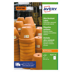 View more details about Avery Ultra Resistant Labels 210x297mm (Pack of 20) B4775-20