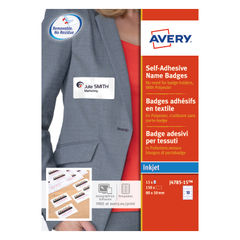 View more details about Avery Self-Adhesive 80 x 50mm Name Badges (Pack of 150) - J4785-15