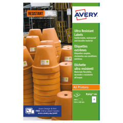 View more details about Avery Ultra Resistant Labels 148x210mm (Pack of 40) B3655-20