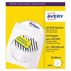 View more details about Avery CD/DVD Paper Sleeve Window XL White (Pack of 100) SL1760-100