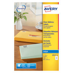 View more details about Avery Inkjet Address Labels 14 Per Sheet Clear (Pack of 350) J8563-25