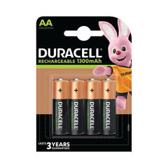 View more details about Duracell Rechargeable AA NiMH 1300mAh Batteries (Pack of 4) 81367177