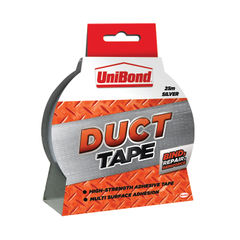 View more details about UniBond 50mm x 25m Silver Duct Tape - 1667753