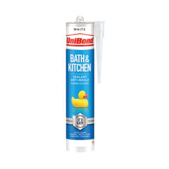 View more details about UniBond Bathroom and Kitchen Sealant Cartridge White 280ml 2652145
