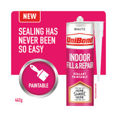 View more details about UniBond Indoor Fill and Repair Cartridge White 280ml 2646328