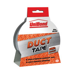 View more details about UniBond 50mm x 50m Silver Duct Tape - 1405197