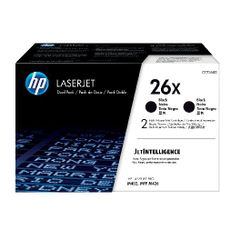 View more details about HP 26X High Yield Black Laserjet Toner Cartridge Twin Pack CF226XD