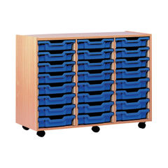 View more details about Jemini 790mm Beech 24 Tray Mobile Storage Unit - TC24T