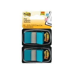 View more details about Post-it Index Tabs Dispenser with Blue Tabs (Pack of 2) 680-B2EU
