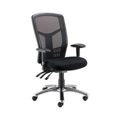 View more details about Arista Logan Black Mesh Operators Office Chairs