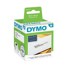 View more details about Dymo 28 x 89mm Black on White LabelWriter Address Labels, Pack of 260 - S0722370