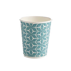 View more details about 25cl Paper Diamond Cups, Pack of 500 - HVDIA08