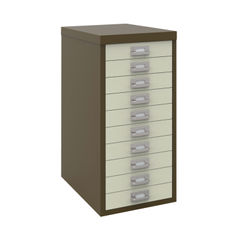 View more details about Bisley A4 Coffee/Cream 10 Drawer Filing Cabinet - H2910NL-005006
