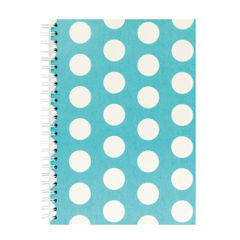 View more details about Go Stationery Teal Large Polka Dot A5 Notebook - 5NC403A