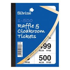 View more details about Cloakroom and Raffle Tickets 1-500 (Pack of 12) CRT500